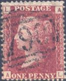 1866 1d Red SG43 Plate 101 'AL'